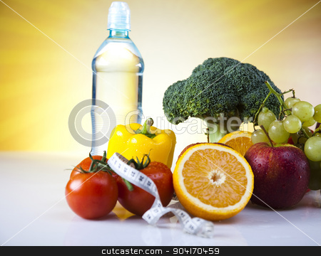 Vegetable and fruit fitness stock photo, Vegetable Fitness, sunshine, bright colorful tone concept by Sebastian Duda