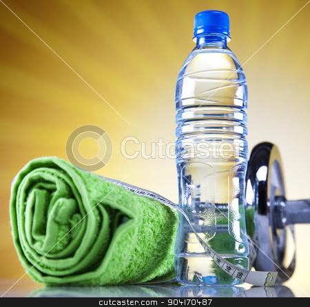 Vegetable and fruit fitness stock photo, Vegetable and fruit fitness, bright colorful tone concept by Sebastian Duda
