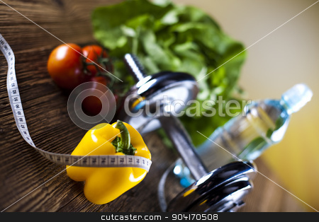 Fitness food stock photo, Weight loss, fitness, bright colorful tone concept by Sebastian Duda