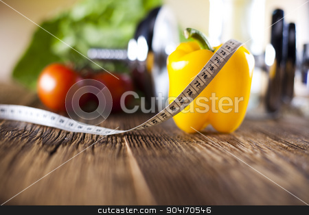 Fitness food stock photo, Fitness food, sunset background, bright colorful tone concept by Sebastian Duda