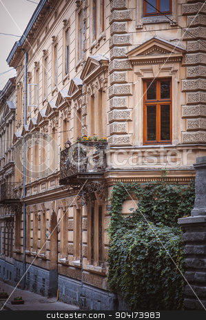 Architectural details of old Lviv buildings. Lviv is a city in w stock photo, Architectural details of old Lviv buildings. Lviv is a city in western Ukraine - Capital of historical region of Galicia by timonko
