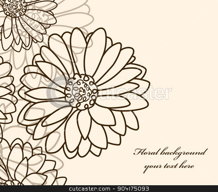 floral background Camomile stock vector clipart, floral background Camomile. vector wallpaper by Extezy