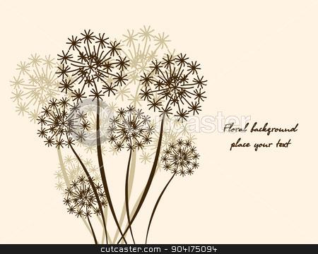 floral background Dandelion stock vector clipart, floral background Dandelion. Vector wallpaper by Extezy
