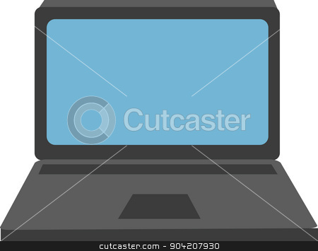 Vector illustration of a laptop stock photo, Vector illustration of a laptop isolated over white background by nicolas menijes