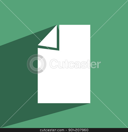 Vector illustration of document icon paper sheet stock photo, Vector illustration of a green document icon paper sheet. by nicolas menijes
