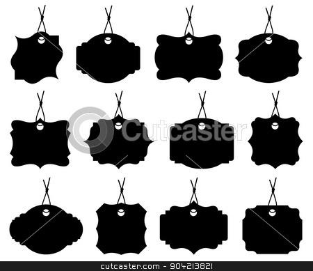 Set of different price tags stock vector clipart, Set of different price tags isolated on white by Ioana Martalogu