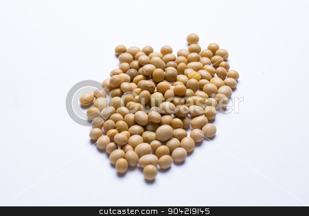 Raw soy beans isolated stock photo, Image of raw soy beans isolated over a white background by Michal