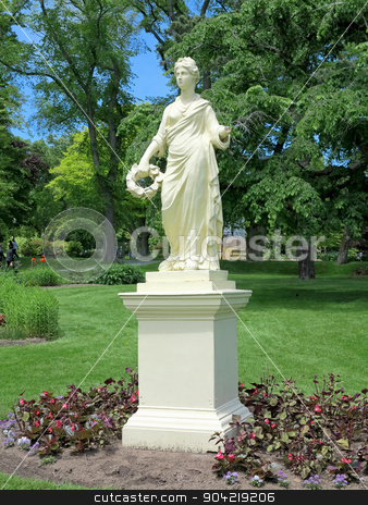 Flora Statue stock photo, The Statue of the Roman Goddess Flora at the Halifax Public Gardens In Halifax, Nova Scotia, Canada by Lucy Clark