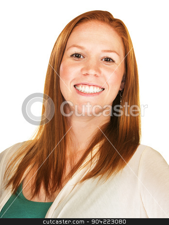 Smiling Proud Person stock photo, Close up of proud woman with big smile by Scott Griessel