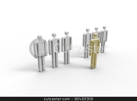 gold person stock photo, This is our golden choice. This is the person we need. by erik kolozsi