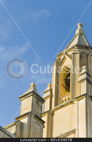 pims_20080607_ml0132 stock photo, Low angle view of a church, Balluta Church, Malta by imagedb