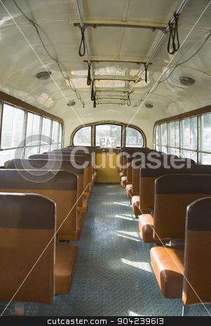 pims_20080607_ml0252 stock photo, Interiors of an empty bus, Valletta, Malta by imagedb