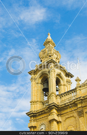 pims_20080607_ml0274 stock photo, Low angle view of a church, Msida Parish Church, Msida, Malta by imagedb