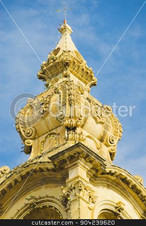 pims_20080607_ml0278 stock photo, High section view of a church, Msida Parish Church, Msida, Malta by imagedb