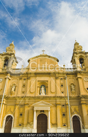 pims_20080607_ml0282 stock photo, Low angle view of a church, Msida Parish Church, Msida, Malta by imagedb