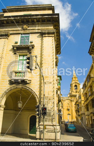 pims_20080607_ml0391 stock photo, Low angle view of an embassy building, American Embassy Building, Valletta, Malta by imagedb