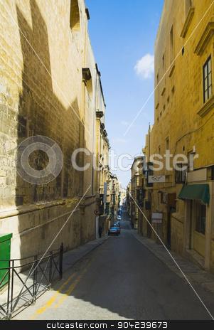 pims_20080607_ml0450 stock photo, Buildings along a street, Valletta, Malta by imagedb
