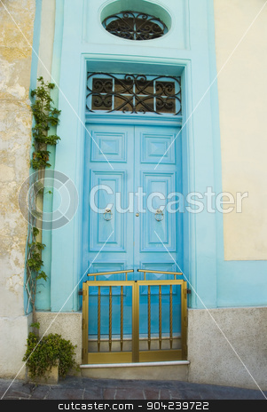 pims_20080607_ml0547 stock photo, Closed door of a house, Valletta, Malta by imagedb