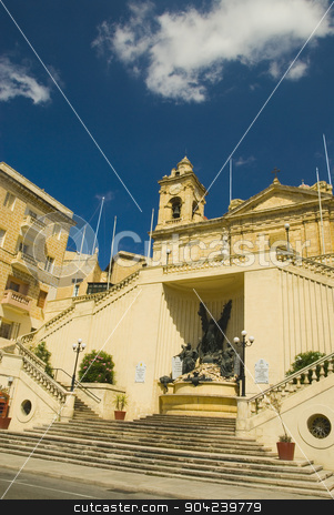 pims_20080607_ml0648 stock photo, Low angle view of a church, Malta by imagedb