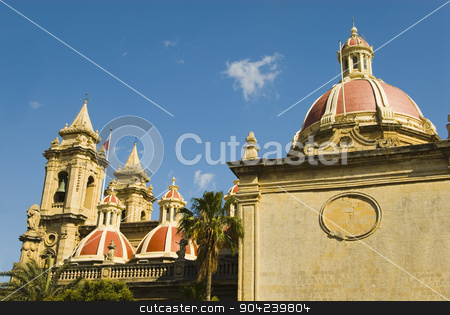 pims_20080607_ml0697 stock photo, Low angle view of a church, St. Catherine Church, Zurrieq, Malta by imagedb