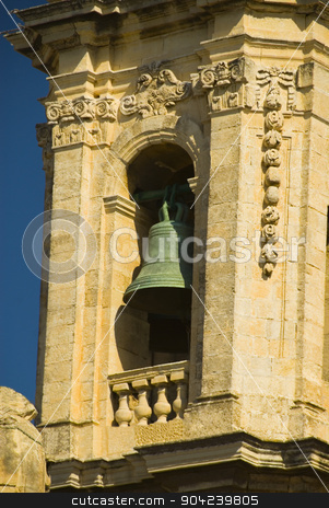 pims_20080607_ml0699 stock photo, Low angle view of a church, St. Catherine Church, Zurrieq, Malta by imagedb