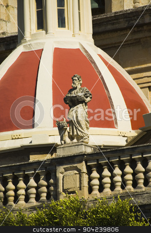 pims_20080607_ml0700 stock photo, Low angle view of a church, St. Catherine Church, Zurrieq, Malta by imagedb