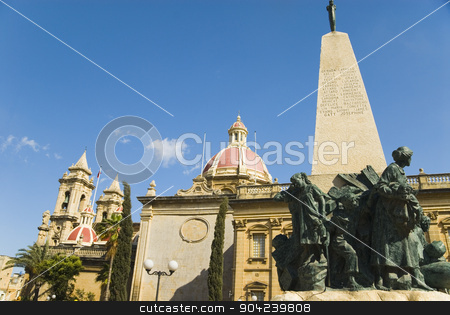pims_20080607_ml0702 stock photo, Low angle view of a church, St. Catherine Church, Zurrieq, Malta by imagedb
