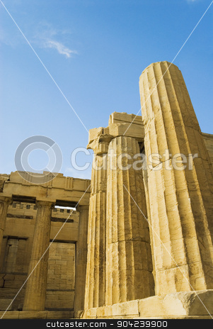pims_20080609_ml0210 stock photo, Ruins of an ancient gateway, Propylaea, Acropolis, Athens, Greece by imagedb