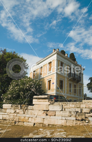 pims_20080609_ml0232 stock photo, Clouds over a building, Athens, Greece by imagedb