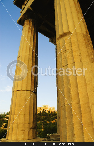 pims_20080609_ml0328 stock photo, Colonnade of an ancient temple, Parthenon, Acropolis, Athens, Greece by imagedb