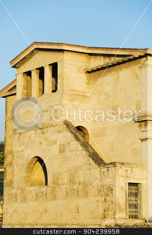 pims_20080609_ml0383 stock photo, Ruins of a library, Athens, Greece by imagedb
