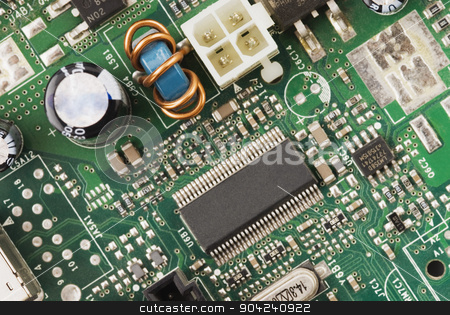pims_20080730_ps0082 stock photo, Close-up of a mother board by imagedb