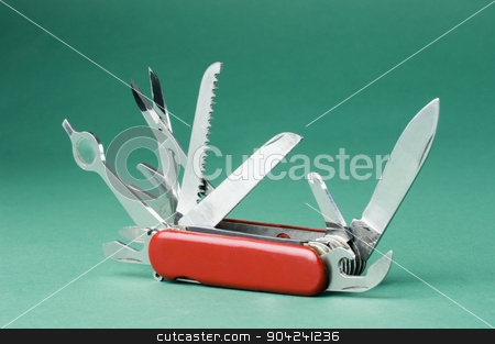 pims_20080925_sa0246 stock photo, Close-up of a multi tool penknife by imagedb