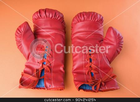 pims_20080925_sa0315 stock photo, Close-up of a pair of boxing gloves by imagedb