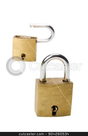 pims_20090624_as0306.jpg stock photo, Close-up of two padlocks by imagedb