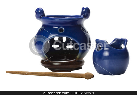 pims_20090625_as0059.jpg stock photo, Close-up of aromatherapy burners by imagedb