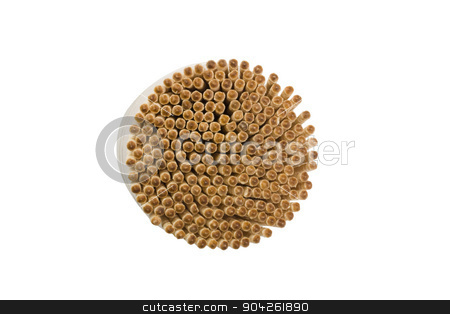 pims_20090625_as0203.jpg stock photo, High angle view of toothpicks in a container by imagedb