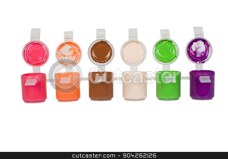 pims_20090629_as0184.jpg stock photo, Close-up of watercolor paints by imagedb