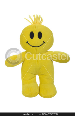 pims_20090629_as0751.jpg stock photo, Close-up of a soft toy with smiley face by imagedb