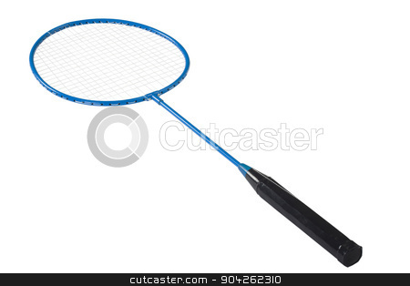 pims_20090629_as0848.jpg stock photo, Close-up of a badminton racket by imagedb
