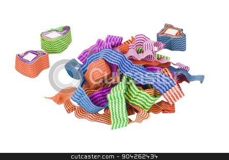 pims_20090630_as0044.jpg stock photo, Close-up of tangled and rolled paper ribbon by imagedb