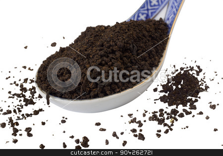 pims_20090703_as0212.JPG stock photo, Close-up of a spoon full of dried tea leaves by imagedb