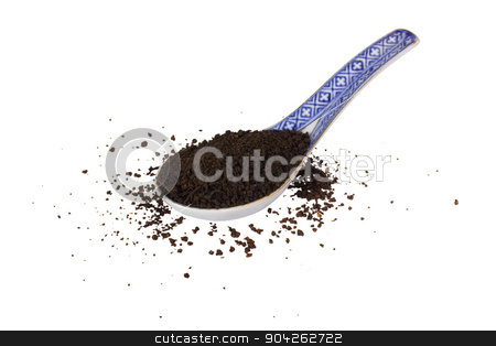 pims_20090703_as0214.JPG stock photo, Close-up of a spoon full of dried tea leaves by imagedb