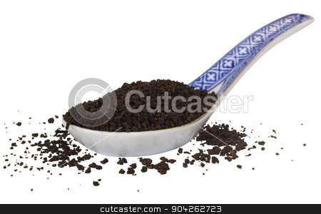 pims_20090703_as0215.JPG stock photo, Close-up of a spoon full of dried tea leaves by imagedb