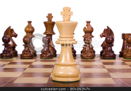 pims_20090713_as0100.JPG stock photo, Chess pieces on a chessboard by imagedb
