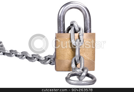 pims_20090713_as0315.JPG stock photo, Close-up of a padlock with a chain by imagedb