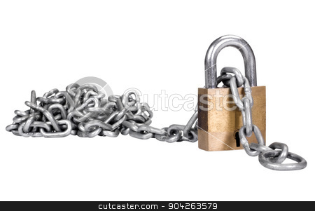pims_20090713_as0318.JPG stock photo, Close-up of a padlock with a chain by imagedb