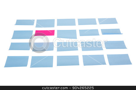 pims_20090713_as0718.JPG stock photo, Blank adhesive notes on a white background by imagedb