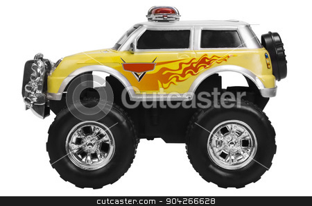pims_20090727_as0536.JPG stock photo, Close-up of a toy monster truck by imagedb