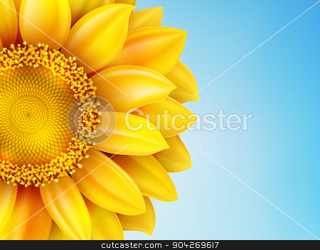 Sunflower sun against. EPS 10 stock vector clipart, Part of sunflower sun against. EPS 10 vector file included by Vladimir Petrov